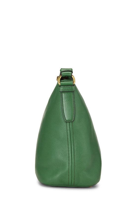 Green Vitello Daino Shoulder Bag, , large image number 3