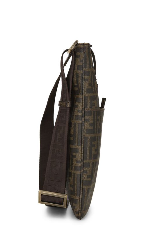 Brown Zucca Coated Canvas Flat Messenger Small, , large image number 3