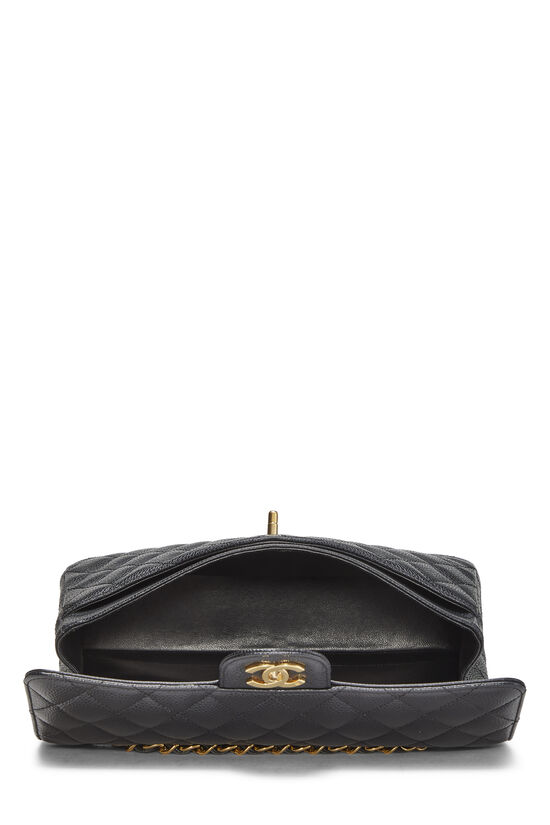 Black Quilted Caviar Classic Double Flap Medium, , large image number 5