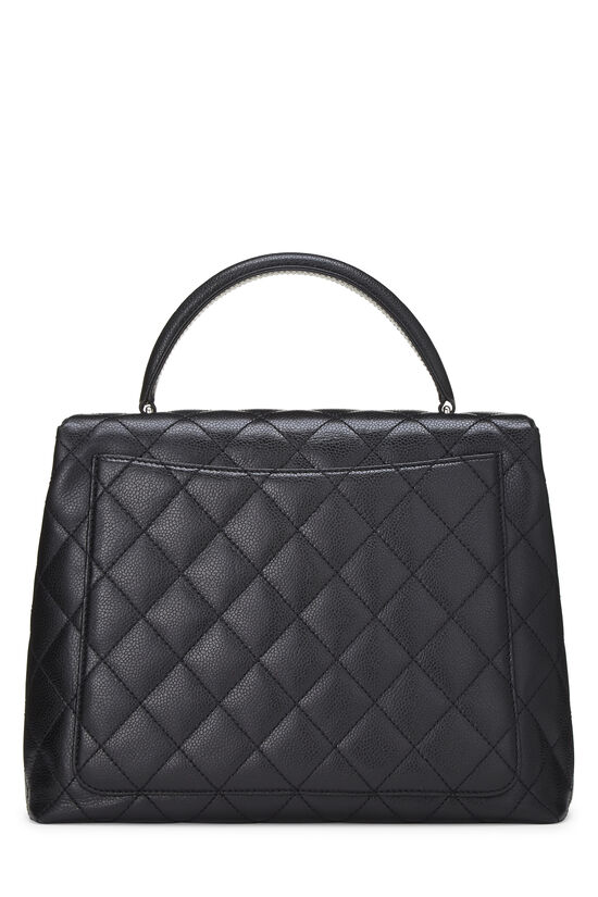 Black Quilted Caviar Kelly Jumbo, , large image number 3