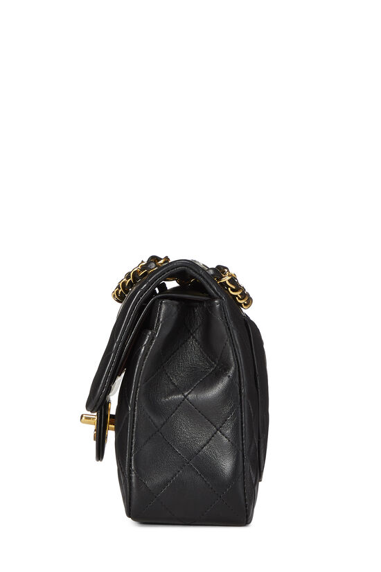 Black Quilted Lambskin Classic Double Flap Small, , large image number 2