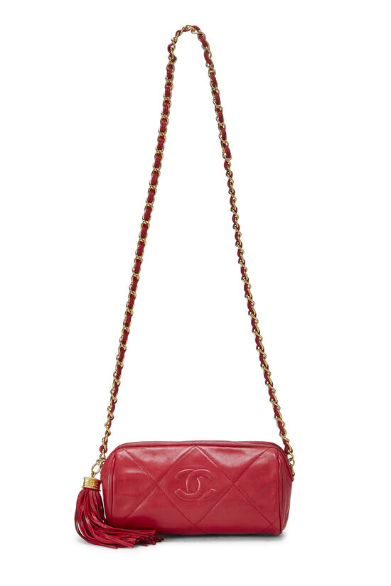 Red Quilted Lambskin Barrel Mini, , large image number 6