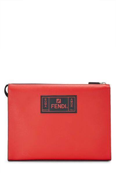 Black & Red Leather Fiend Clutch