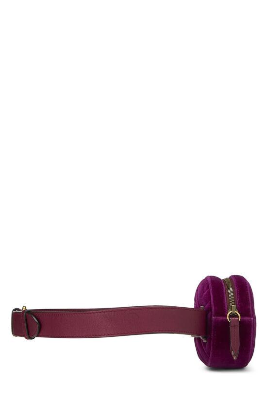 Purple Velvet Marmont Belt Bag Mini, , large image number 2