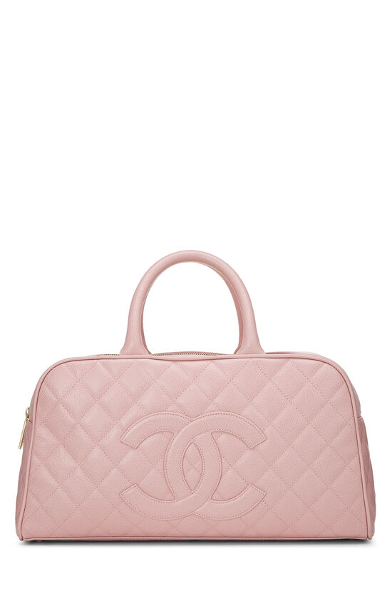 Pink Quilted Caviar Bowler Small, , large image number 0