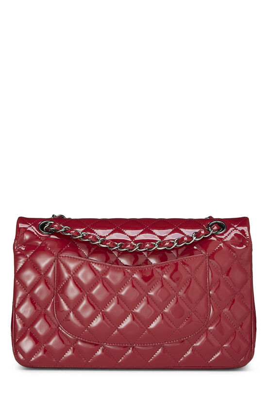 Red Quilted Patent Leather Classic Double Flap Medium, , large image number 3