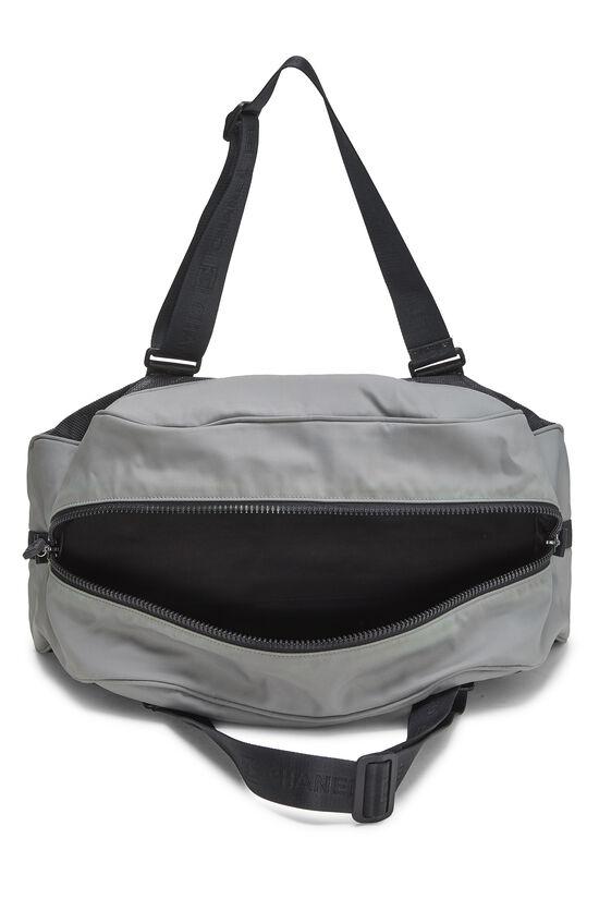 Black & Grey Nylon Sportline Duffle, , large image number 5