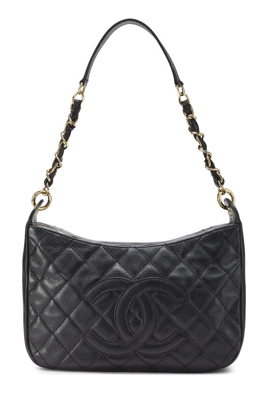 Black Caviar Timeless 'CC' Shoulder Bag, , large image number 0