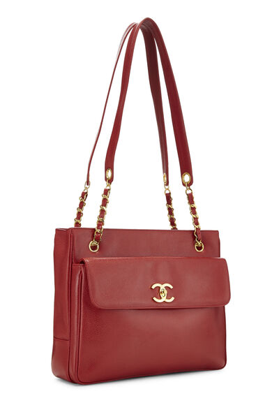 Red Caviar Pocket Tote, , large