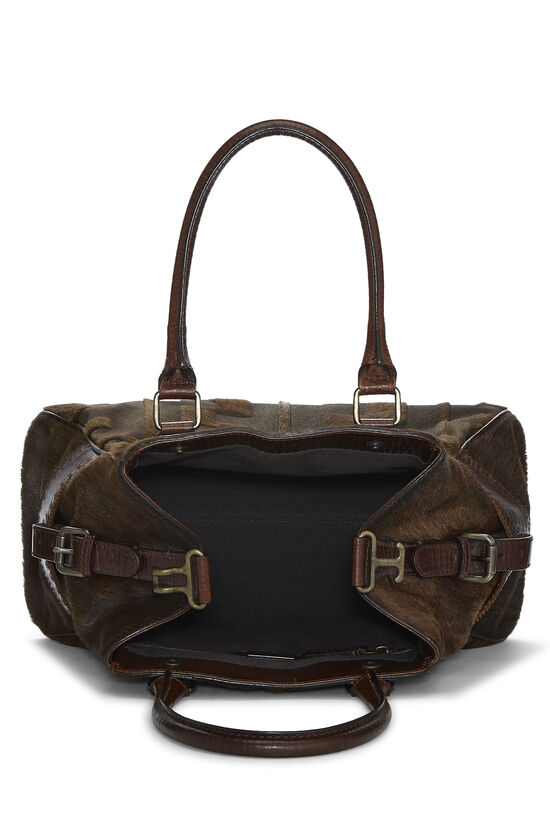 Brown Zucca Pony Hair Bag Du Jour Small, , large image number 5