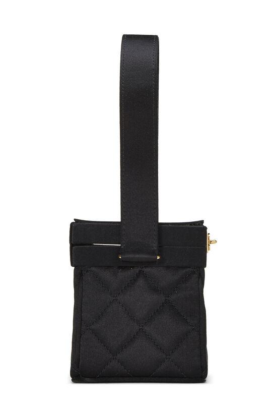 Black Quilted Satin Box Vanity Mini, , large image number 2