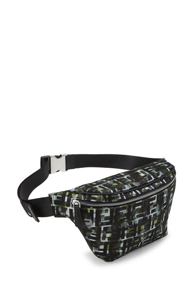 Multicolor Abstract Zucca Nylon Belt Bag, , large