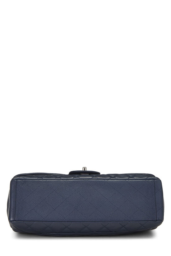 Navy Quilted Caviar Single Flap Maxi, , large image number 4