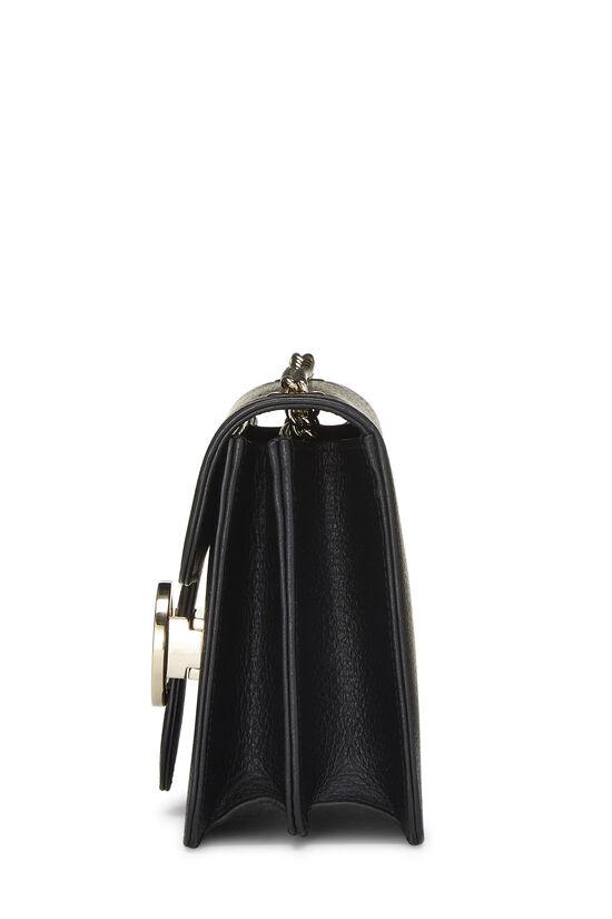 Black Leather Interlocking Crossbody Large, , large image number 3