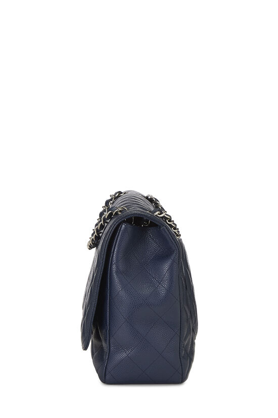 Navy Quilted Caviar Single Flap Maxi, , large image number 2