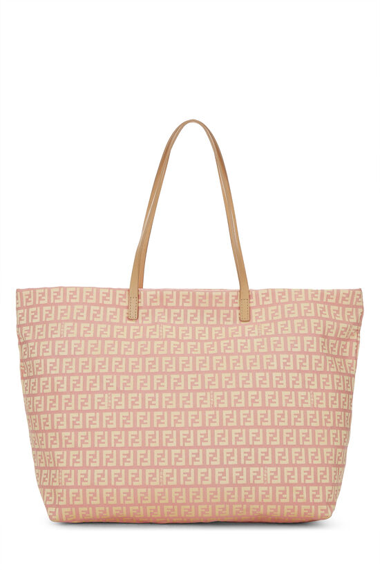 Pink & Yellow Zucchino Canvas Roll Tote, , large image number 0