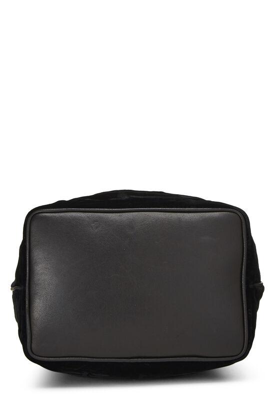 Black Velvet Bucket Bag Small, , large image number 4