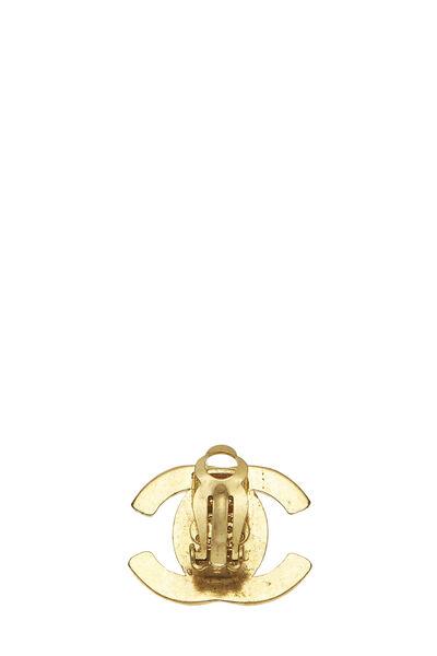 Gold 'CC' Turnlock Earrings Medium, , large