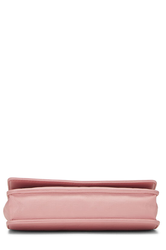 Pink Lambskin Camellia Wallet on Chain (WOC), , large image number 5
