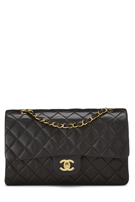 Black Quilted Lambskin Classic Double Flap Medium, , large image number 0