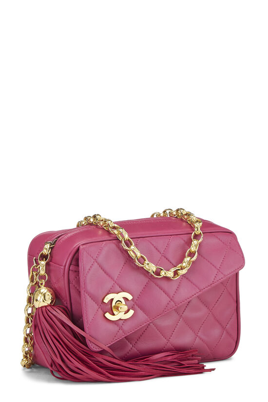 Pink Quilted Lambskin Pocket Camera Bag Mini, , large image number 2