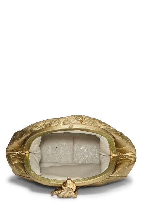 Metallic Gold Quilted Lambskin Shoulder Bag Mini, , large image number 5