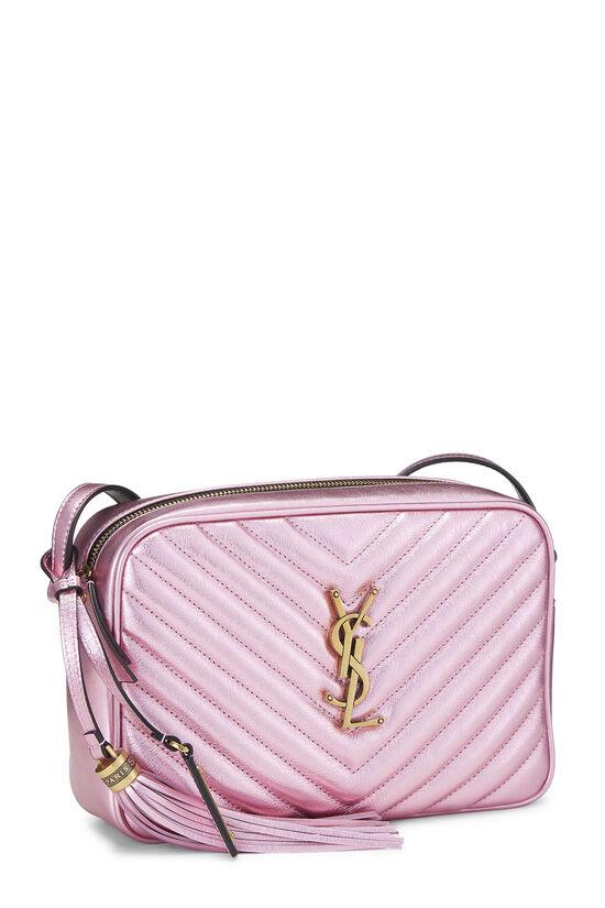 Metallic Pink Quilted Calfskin Lou Camera Bag, , large image number 2