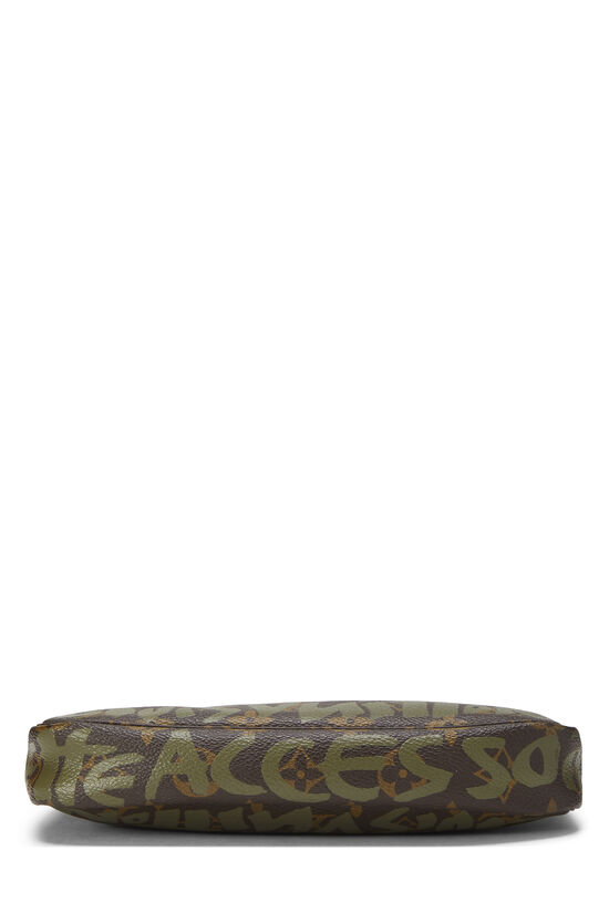 Stephen Sprouse x Louis Vuitton Green Monogram Graffiti Pochette Accessoires, , large image number 4