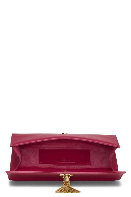 Pink Calfskin Tassel Cassandre Clutch, , large image number 5
