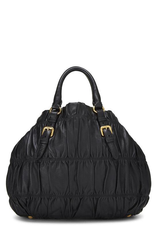 Black Nappa Gaufre Handbag, , large image number 3