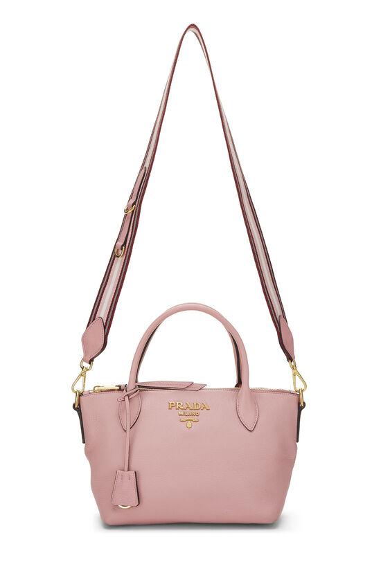Pink Vitello Daino Handbag Small, , large image number 6
