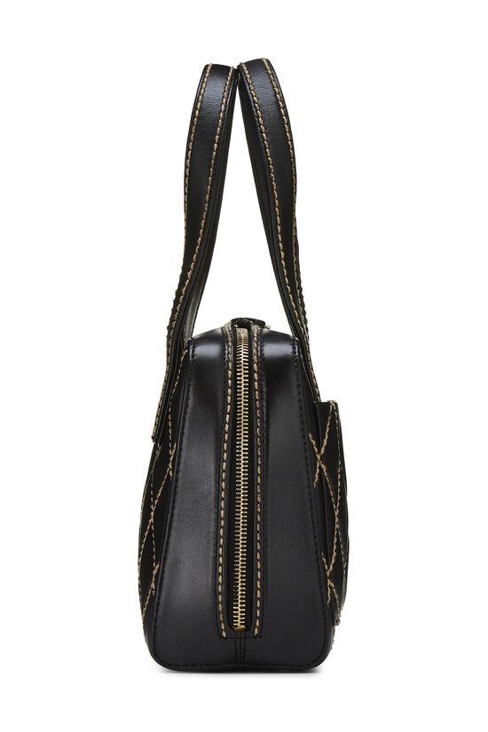 Black Leather Wild Stitch Boston Handbag, , large image number 2