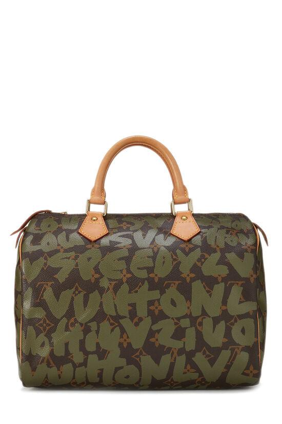 Stephen Sprouse x Louis Vuitton Monogram Green Graffiti Speedy 30, , large image number 3