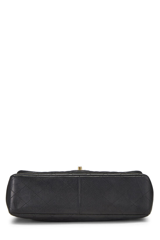 Black Quilted Caviar Half Flap Jumbo, , large image number 4