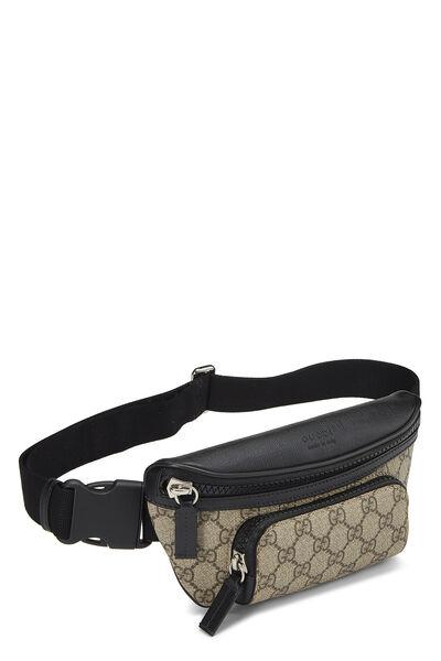Black & Original GG Supreme Canvas Eden Belt Bag, , large