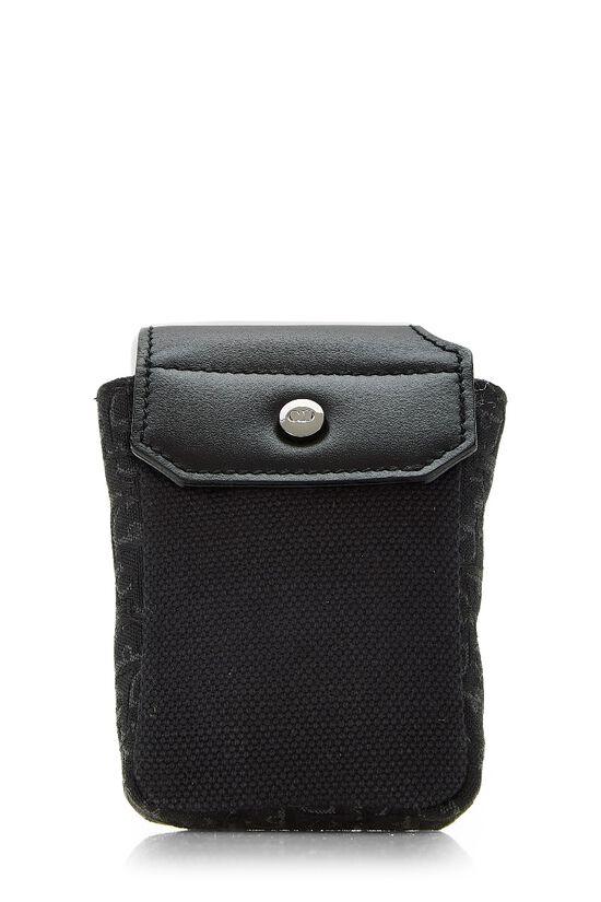 Black Oblique Canvas Belt Bag, , large image number 4