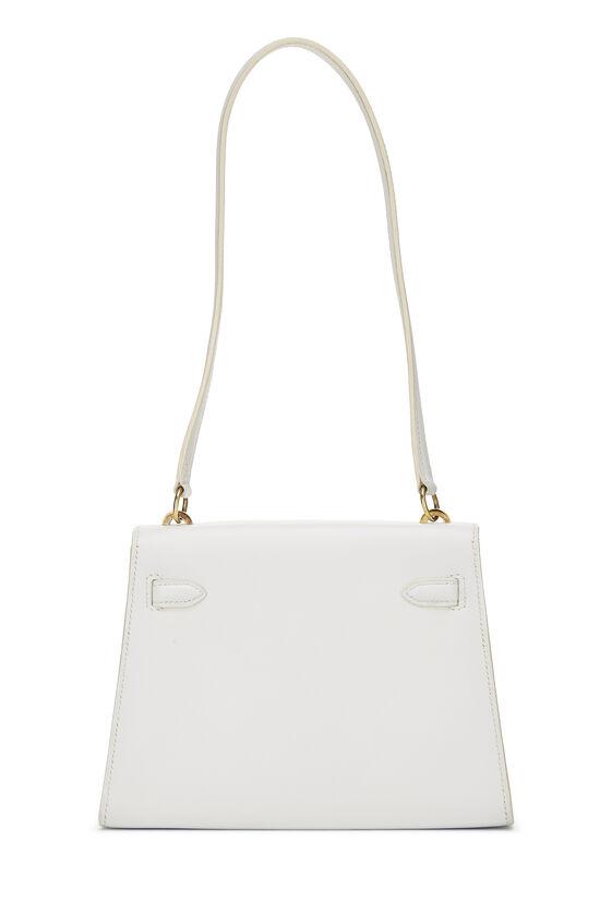 White Chevre Kelly Sellier 20 Mini, , large image number 3