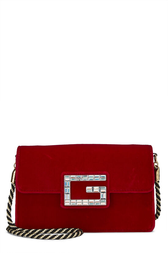 Red Velour Broadway Crossbody Mini, , large image number 0