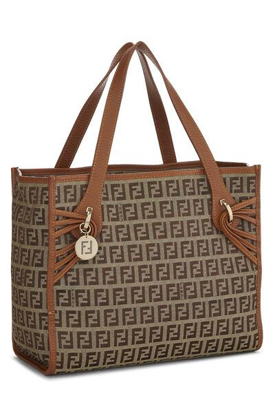 Brown Zucchino Canvas Handbag Small, , large