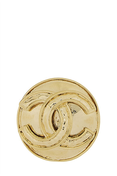 Gold 'CC' Round Pin Small