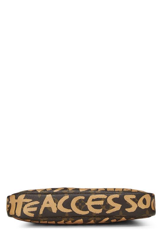Stephen Sprouse x Louis Vuitton Beige Monogram Graffiti Pochette Accessoires, , large image number 4
