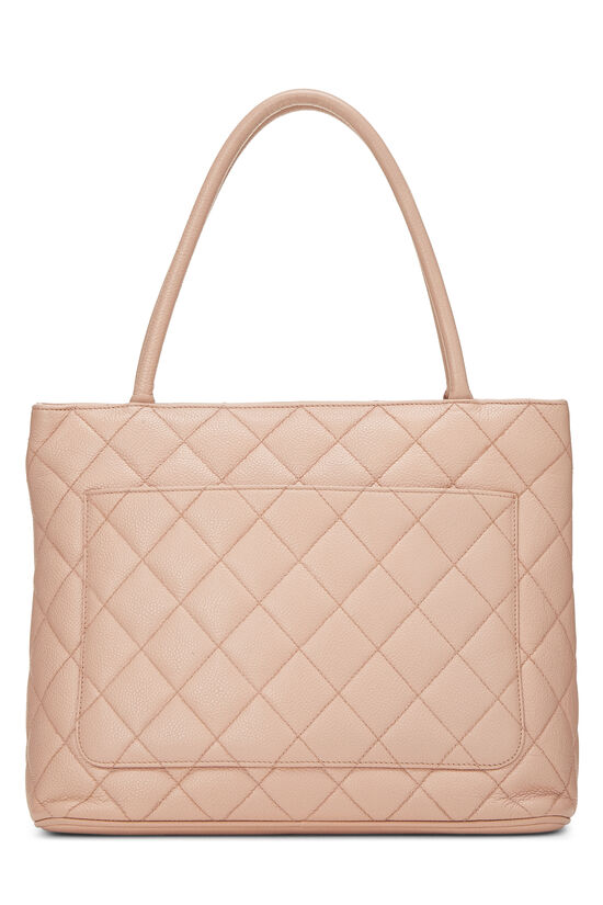Pink Quilted Caviar Medallion Tote, , large image number 3