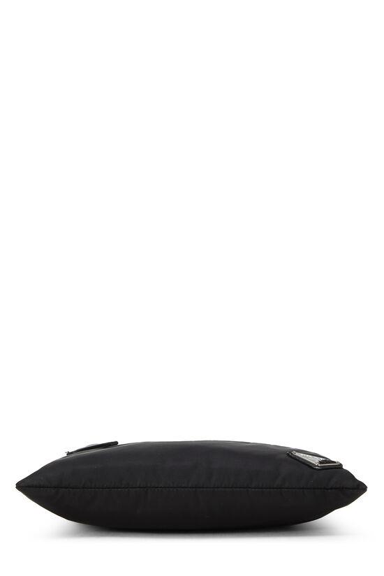 Black Nylon Shoulder Bag, , large image number 4