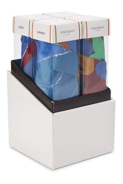Multicolor Silk Seasons Scarf Set, , large