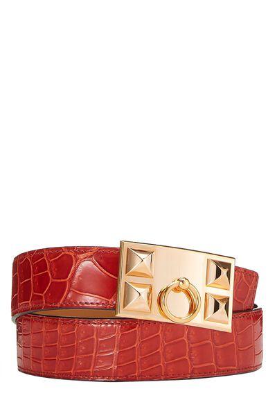 Rouge Crocodile Collier de Chien Belt 75