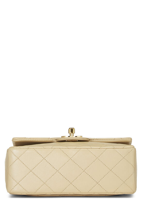 Beige Quilted Lambskin Half Flap Mini, , large image number 4