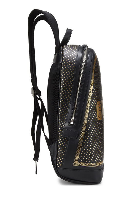 Black Leather Guccy Moon & Stars Magnetismo Backpack, , large image number 2