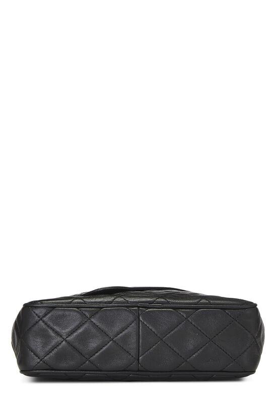 Black Lambskin Diagonal Camera Bag Small, , large image number 4