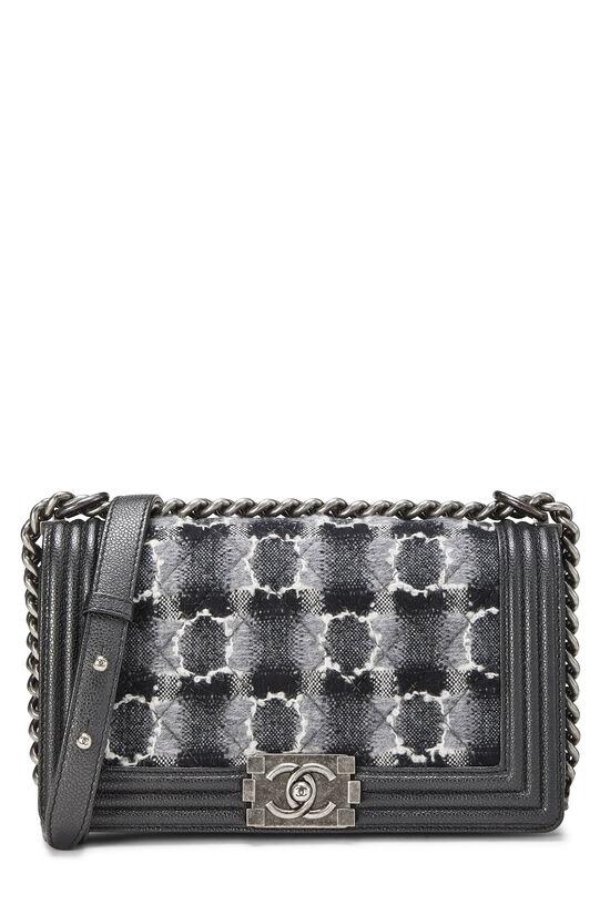 Black Leather & Tweed Boy Bag Medium, , large image number 0