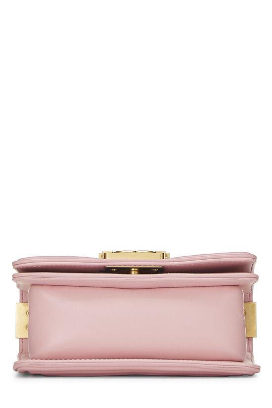 Pink Calfskin & Multicolor Tweed Boy Bag Mini, , large image number 5